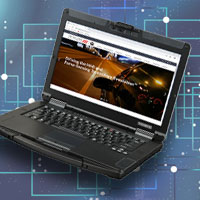 Resistive Touchpad Laptop Example